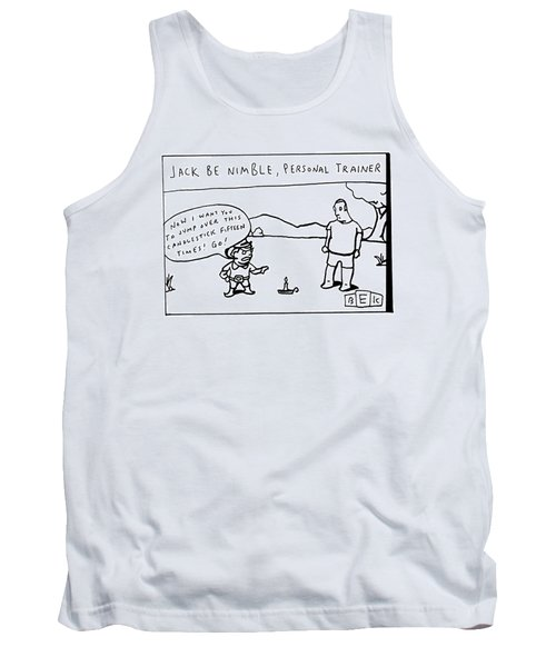 Gesturing To A Candlestick On The Ground Tank Top