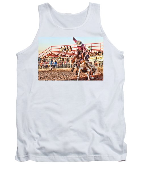 Tank Top featuring the photograph Get Off My Back by Toni Hopper
