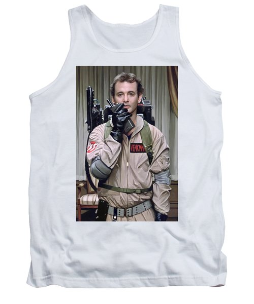 Tank Top featuring the painting Ghostbusters - Bill Murray Artwork 2 by Sheraz A