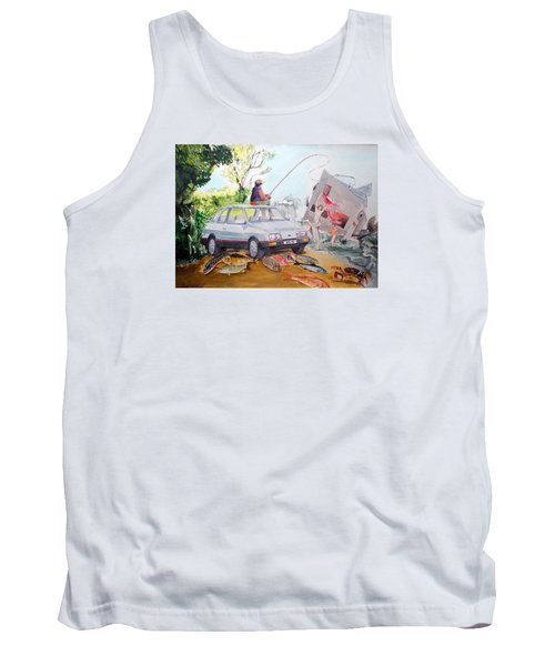 Gift Listen With Music Of The Description Box Tank Top