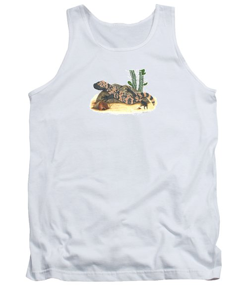 Gila Monster Tank Top by Cindy Hitchcock