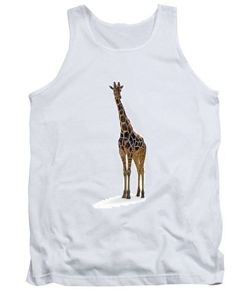 Tank Top featuring the photograph Giraffe by Charles Beeler