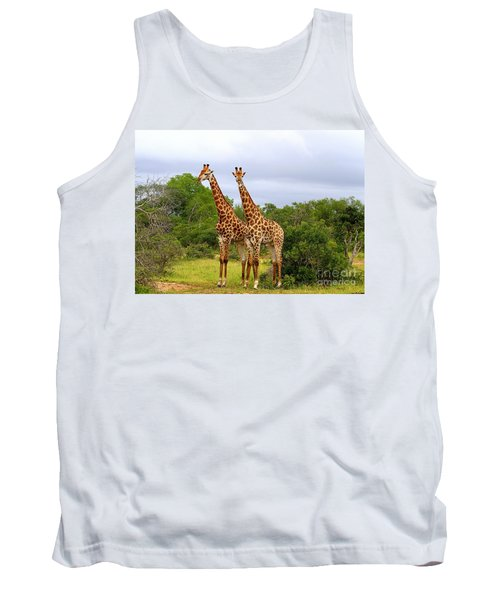 Giraffe Males Before The Storm Tank Top