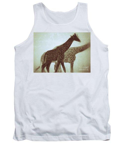 Giraffes In The Mist Tank Top