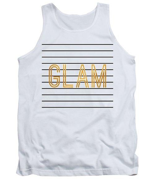 Glam Pinstripe Gold Tank Top