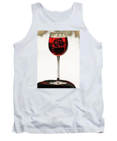 Glass Of Wine... Tank Top by Al Fritz