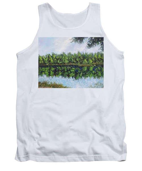 Tank Top featuring the painting Glenoak Lake by Jason Williamson