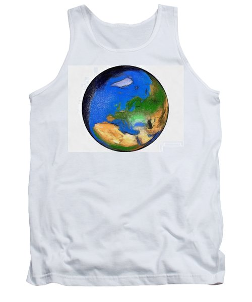 Globe 3d Picture Tank Top