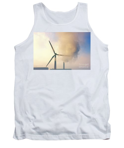 Gloomy Industrial View. Tank Top