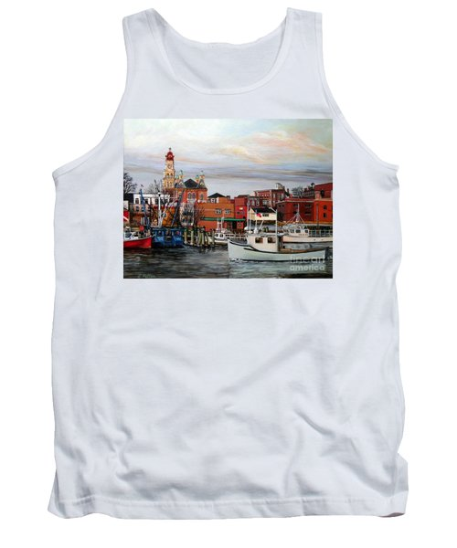 Gloucester Harbor Tank Top by Eileen Patten Oliver