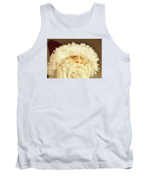 Tank Top featuring the photograph Gnome Santa by Nadalyn Larsen