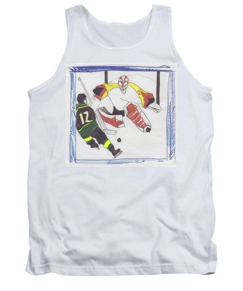 Tank Top featuring the drawing Shut Out By Jrr by First Star Art