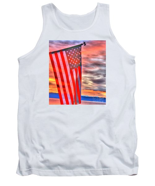 God Bless America Over Puget Sound Tank Top