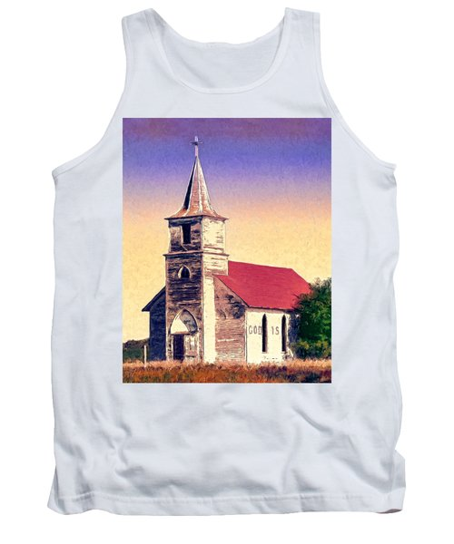 God Is Tank Top by Dominic Piperata
