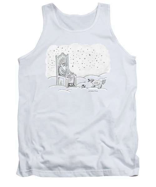 God Sits In His Throne And Plays Fetch Tank Top