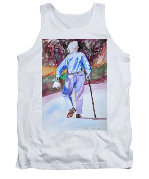 Tank Top featuring the painting Going Home by Esther Newman-Cohen