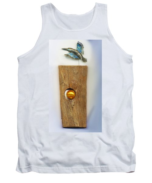 Tank Top featuring the sculpture Gold  Orb by Hartmut Jager