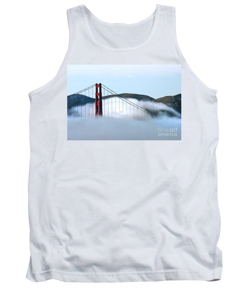 Golden Gate Bridge Clouds Tank Top