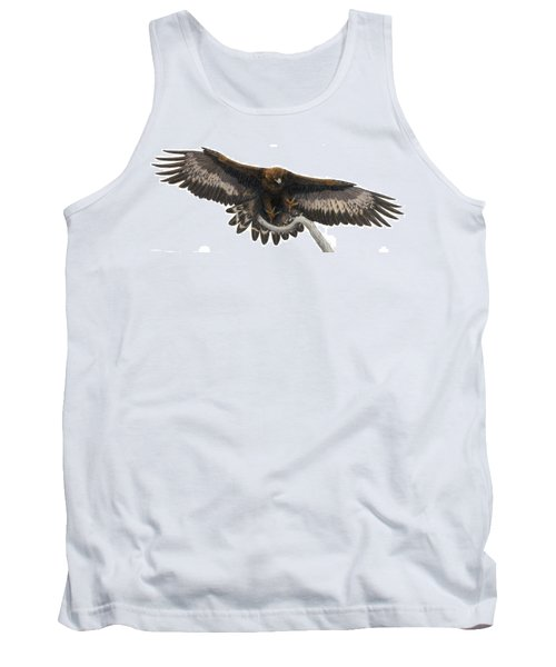 Tank Top featuring the painting Golden Landing by Pat Erickson
