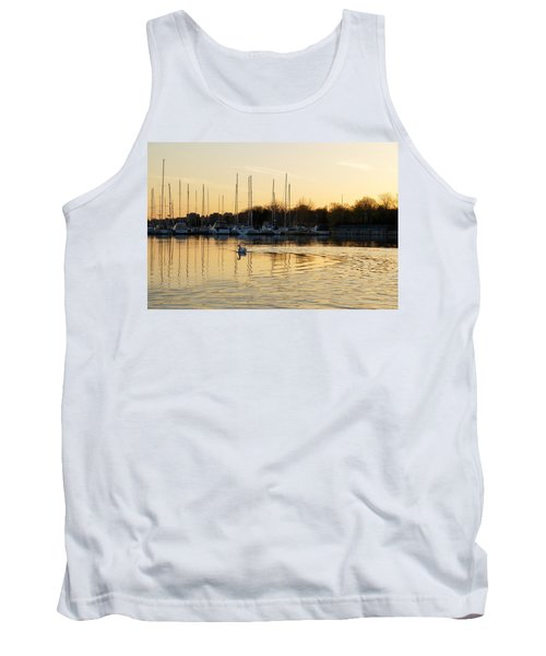 Golden Ripples And Reflections Tank Top