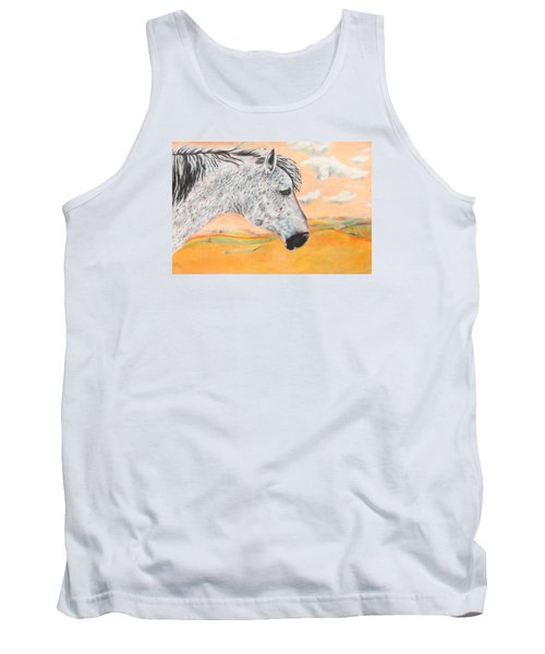 Tank Top featuring the painting Golden Sky by Jeanne Fischer