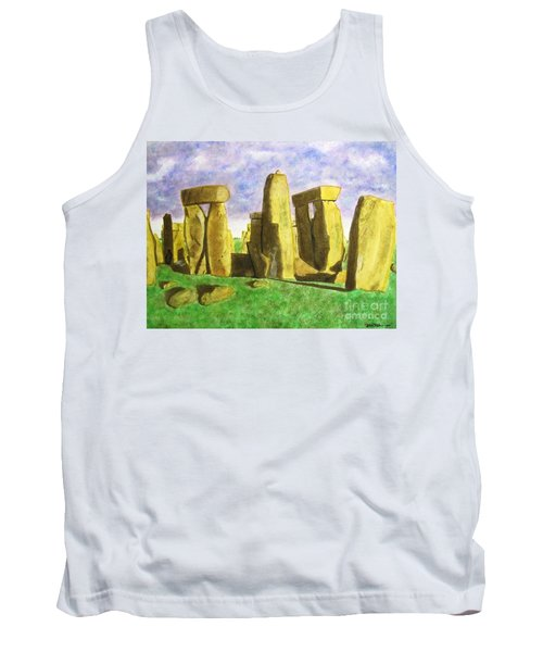 Golden Stonehenge Tank Top
