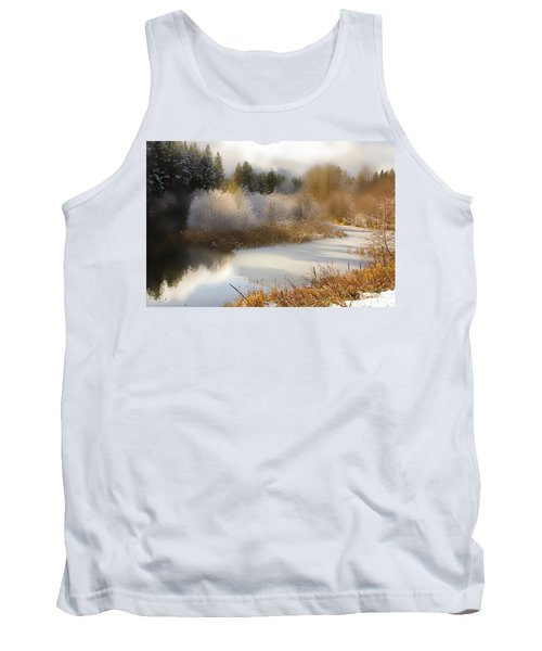 Tank Top featuring the photograph Golden Winter by Sonya Lang