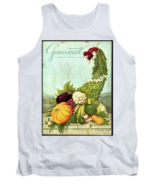 Gourmet Cover Illustration Of A Cornucopia Tank Top
