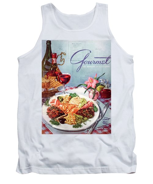 Gourmet Cover Illustration Of A Plate Of Antipasto Tank Top