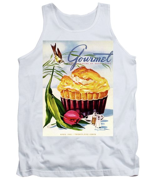 Gourmet Cover Illustration Of A Souffle And Tulip Tank Top