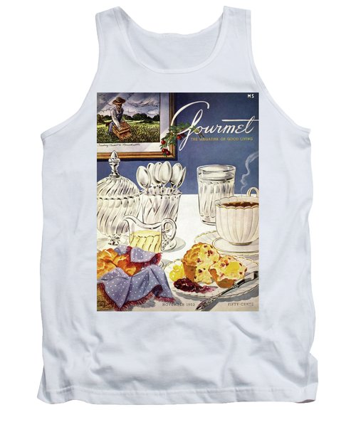 Gourmet Cover Illustration Of Cranberry Muffins Tank Top