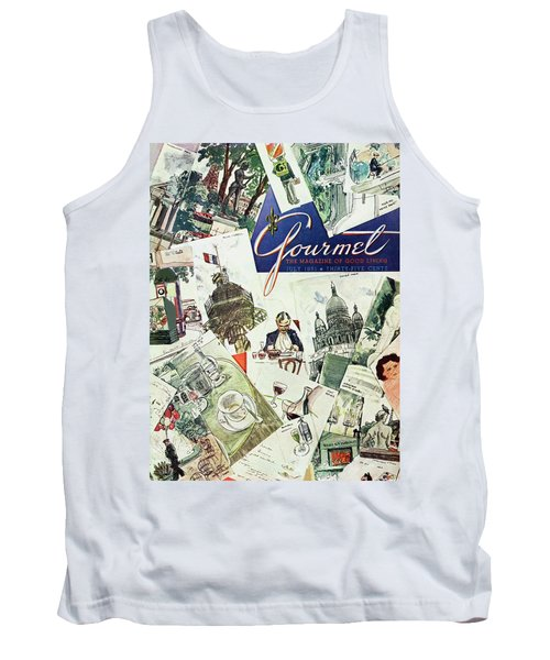 Gourmet Cover Illustration Of Drawings Portraying Tank Top
