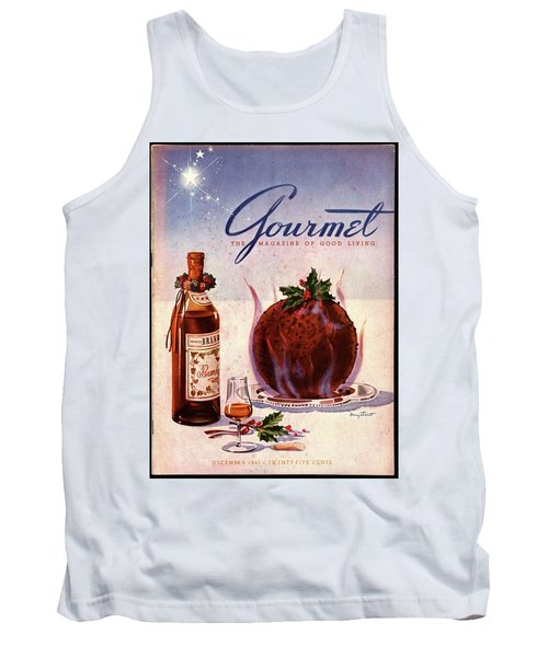 Gourmet Cover Illustration Of Flaming Chocolate Tank Top