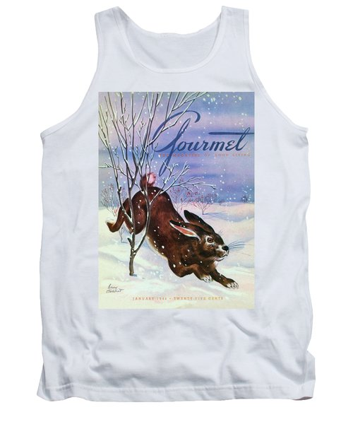 Gourmet Cover Of A Rabbit On Snow Tank Top