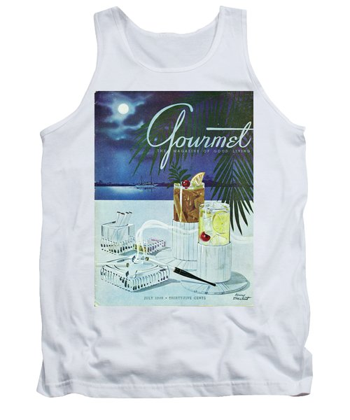 Gourmet Cover Of Cocktails Tank Top
