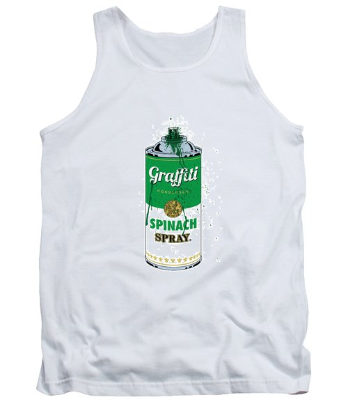 Graffiti Spinach Spray Can Tank Top