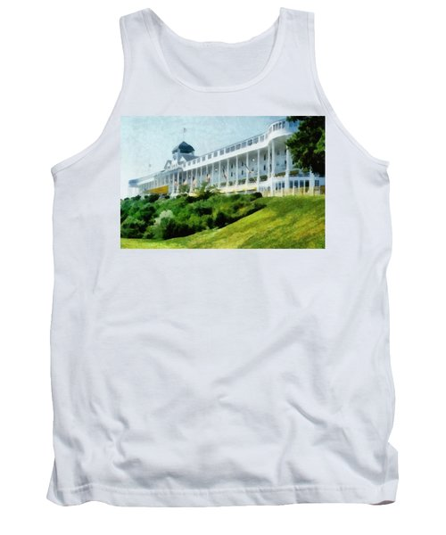 Grand Hotel Mackinac Island Ll Tank Top by Michelle Calkins