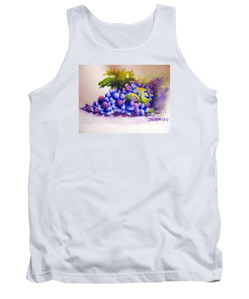 Tank Top featuring the painting Grapes by Chrisann Ellis