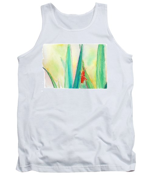 Tank Top featuring the painting Grasshopper by C Sitton