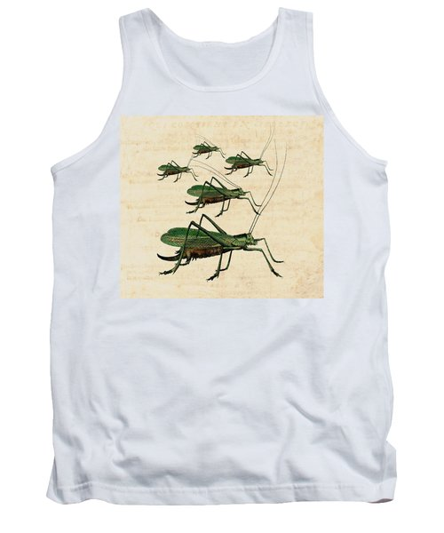 Grasshopper Parade Tank Top by Antique Images
