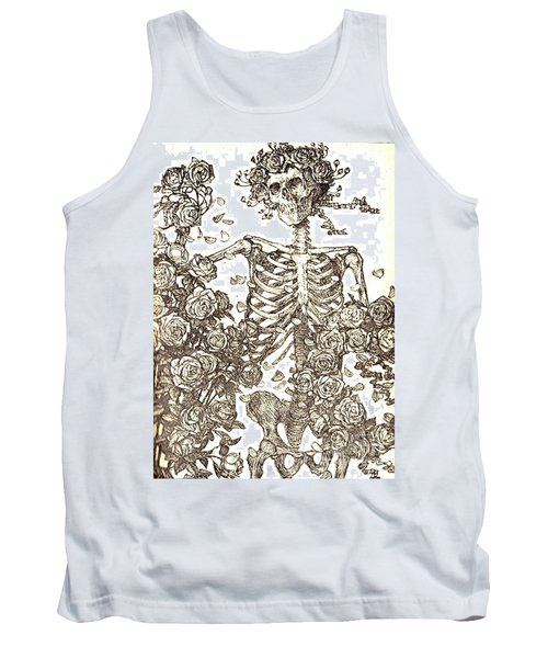 Gratefully Dead Skeleton Tank Top by Kelly Awad