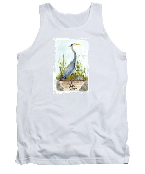 Great Blue Heron Tank Top by Cindy Hitchcock