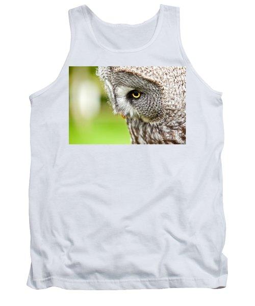 Great Gray Owl Close Up Tank Top