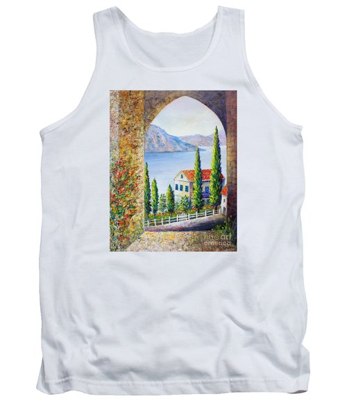 Greek Arch Vista Tank Top by Lou Ann Bagnall