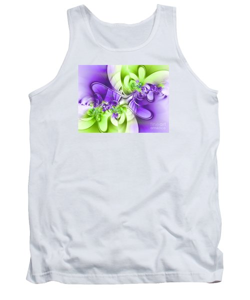 Green And Purple Tank Top by Lena Auxier