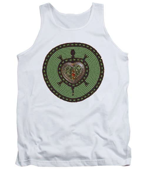 Green Heart Turtle Tank Top