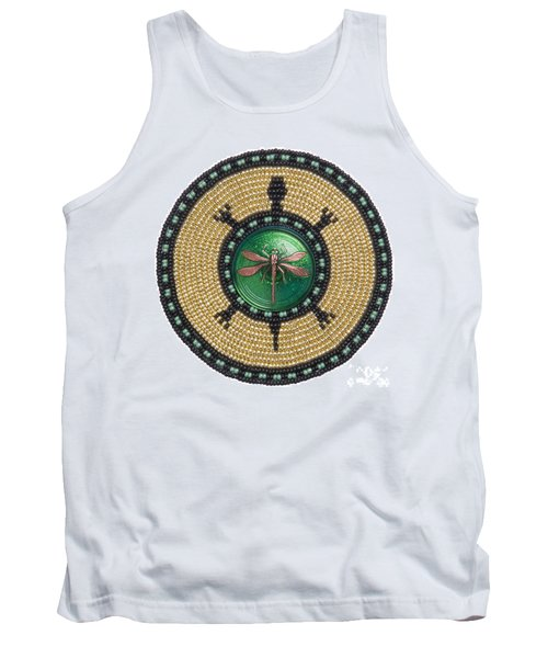 Green Jewel Dragonfly Turtle Tank Top