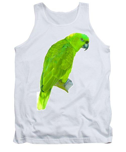Green Parrot Tank Top