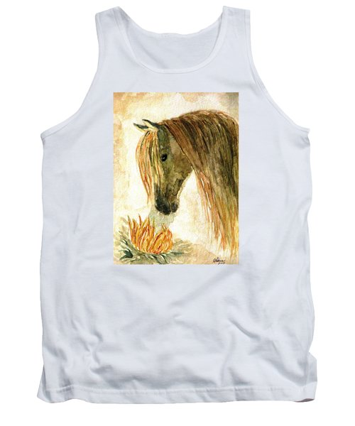Greeting A Sunflower Tank Top by Angela Davies