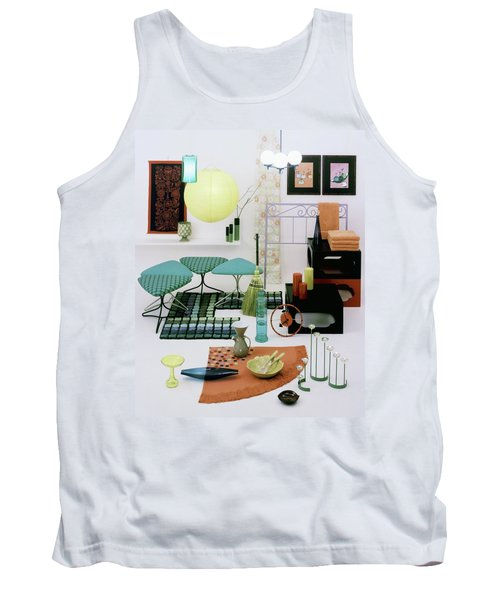 Group Of Furniture And Decorations In 1960 Colors Tank Top